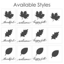 Load image into Gallery viewer, Fall Leaf Sign - Galvanized Metal and Wood Sign