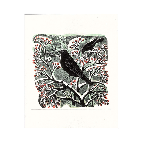 Angela Harding, 'Blackbird and Berries'