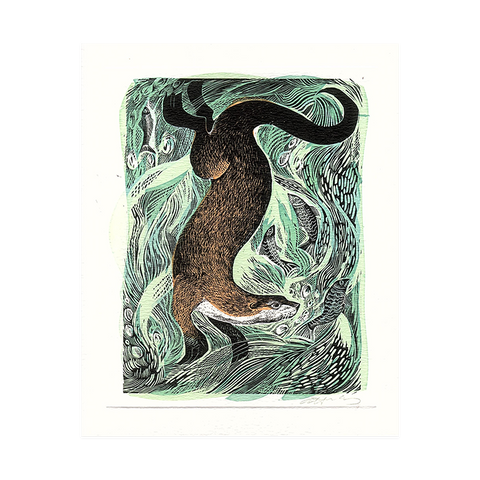 Angela Harding, 'Fishing Otter'