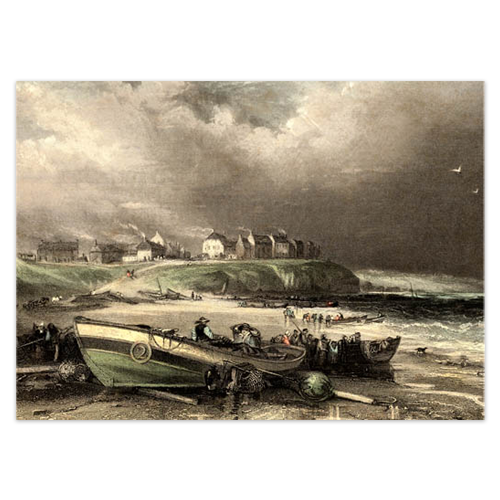 'Cullercoats, Northumberland 1837', from an original print