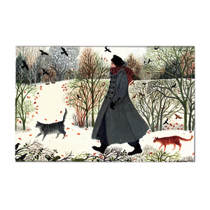 Dee Nickerson, 'Another Walk In The Snow' pack of 8 note cards