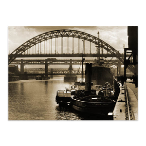 'Four Bridges, Newcastle upon Tyne, circa 1930'.