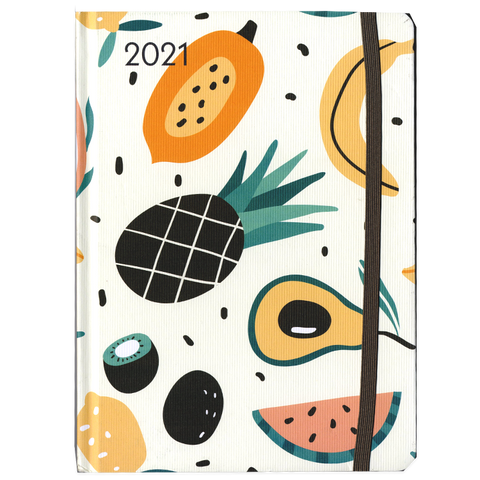 Large Greenline 'Happy Fruit' Diary 2021