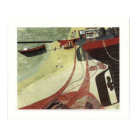 Melvyn Evans, 'Fishing Boats on Hastings Beach'