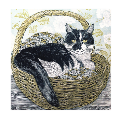 Vanessa Lubach, 'Cat In A Basket'