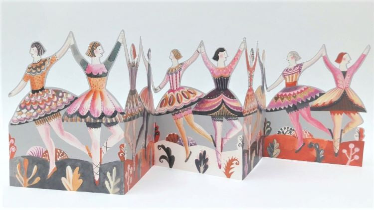 'Dancers' Tri-fold Card by Sarah Young