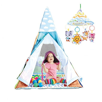 Baby play gym and fun tent