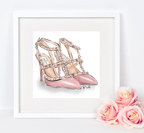 """The Shoes"" in blush"