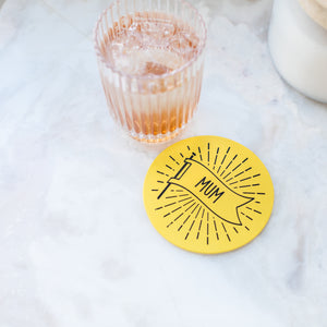 Message Flag Coaster