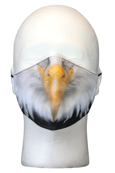 Realistic Eagle Fabric Face Mask