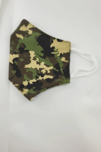 Green Camo Fabric Mask