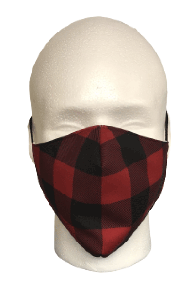 Red Plaid Fabric Mask