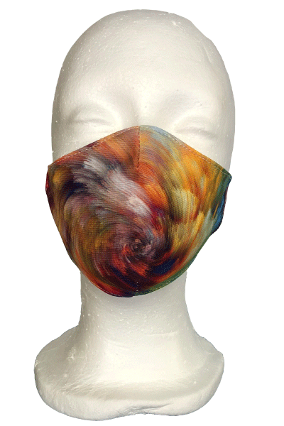 Swirl Colours Fabric Mask