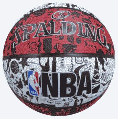 Ballon GRAPHITTI  Rouge Blanc OUTDOOR Taille 7
