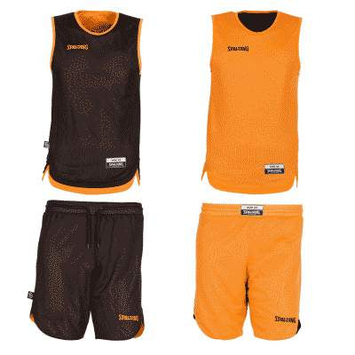 REVERSIBLE ENSEMBLE JUNIOR SPALDING NOIR ORANGE