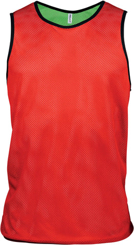 Chasuble Réversible Le Coach Basket Rouge Vert JR