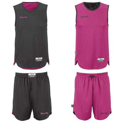 REVERSIBLE ENSEMBLE JUNIOR SPALDING NOIR ROSE FUSHIA
