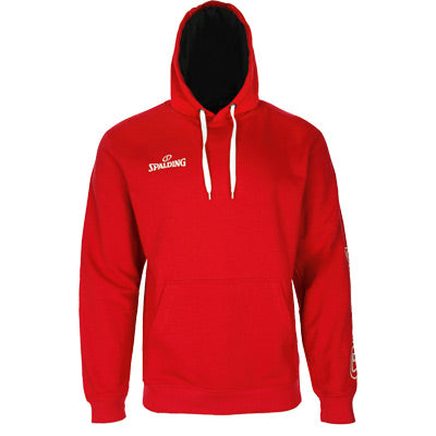 SWEAT A CAPUCHE TEAM II ROUGE SPALDING