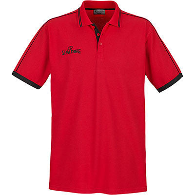 POLO MANCHES COURTES ROUGE SPALDING
