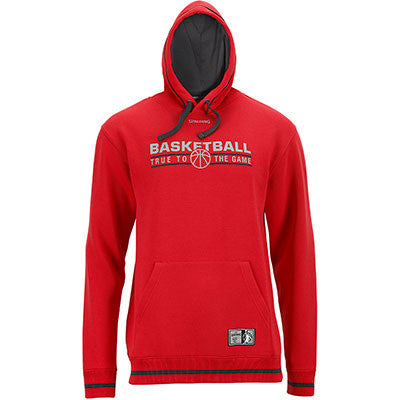 TEAM SWEAT A CAPUCHE ROUGE NOIR SPALDING