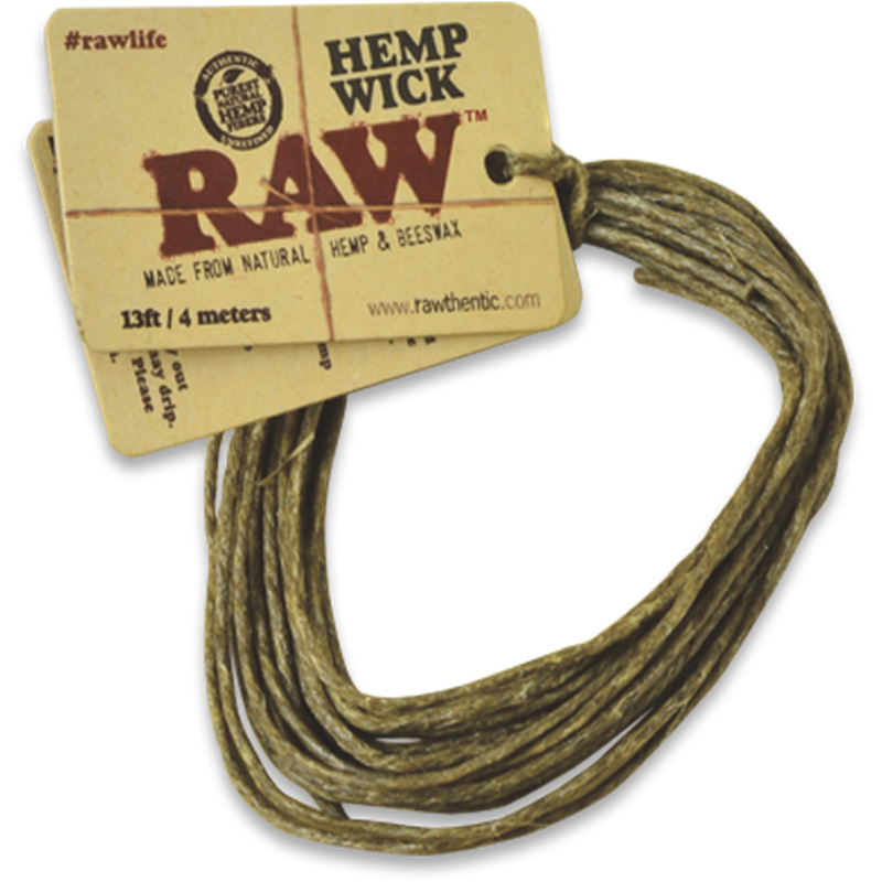 RAW Hemp Wick - 13ft.