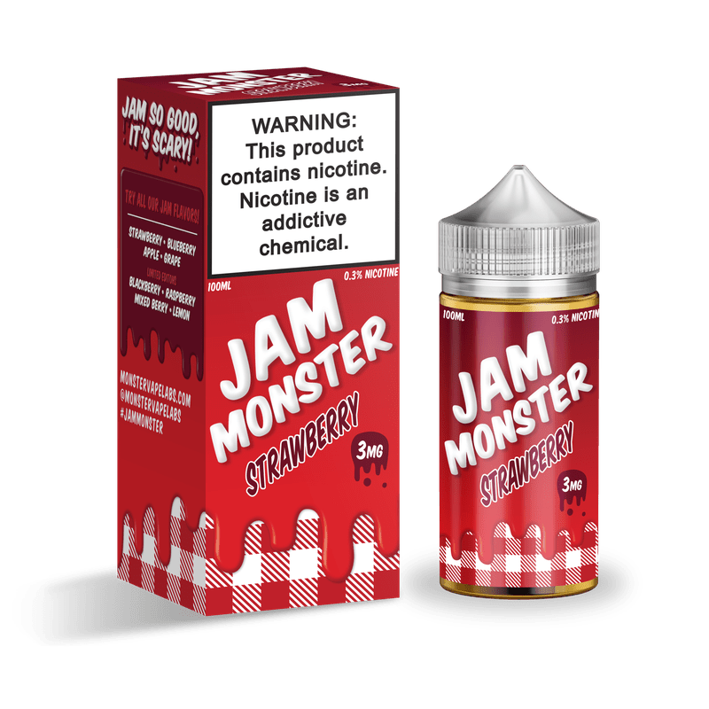 Jam Monster Strawberry 0mg.