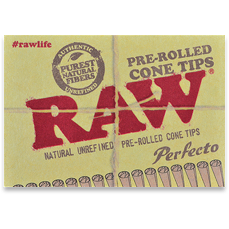 RAW Perfecto Pre-Rolled Cone Tips.