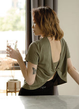 Load image into Gallery viewer, Vivre - Stretch Out Open Back Tee