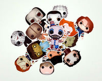 Set of Horror Funko Character Stickers