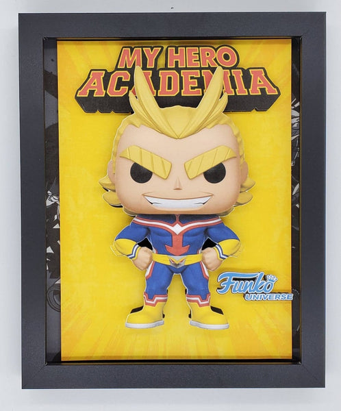 My Hero Academia All Might Funko Glow Chase Shadow Box, 3D Art