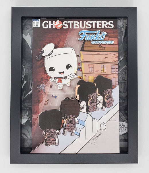 Ghostbusters Stay Puft Marshmallow Man Funko Shadow Box, 3D Art