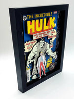 Original Hulk Marvel Shadow Box, 3D Marvel Comic Book Art