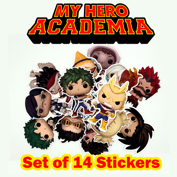 My Hero Academia Funko Character Stickers
