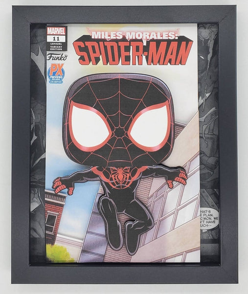 Spider-Man Miles Morales Funko Shadow Box, 3D Art