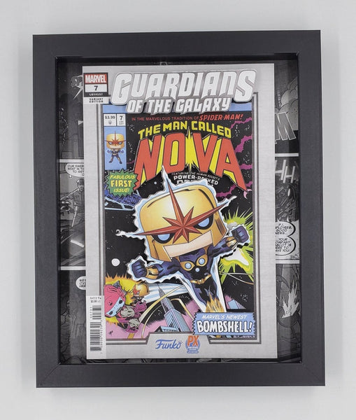 Nova Guardians of the Galaxy Funko Shadow Box, 3D Art