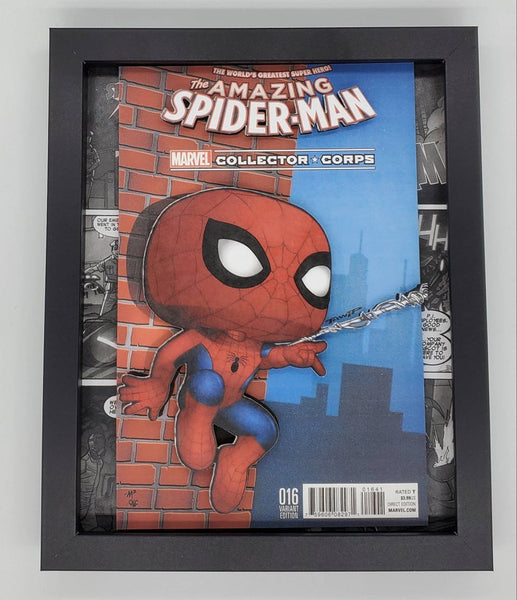 Spider-Man Funko Shadow Box, 3D Art