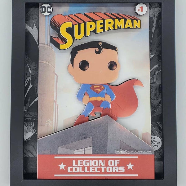 Superman Funko Shadow Box, 3D Art