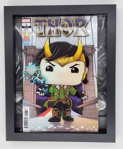Thor Loki Funko Shadow Box, 3D Art