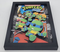 Teenage Mutant Ninja Turtles Funko Shadow Box, 3D Art