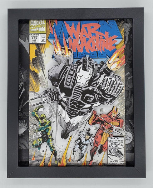 Iron Man War Machine Shadow Box, 3D Art