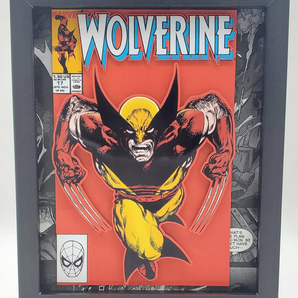 Classic Wolverine Marvel Shadow Box, 3D Art