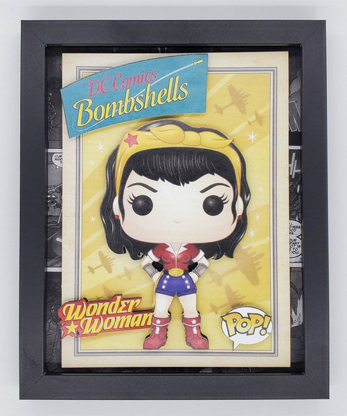 Wonder Woman Funko Shadow Box, 3D Art