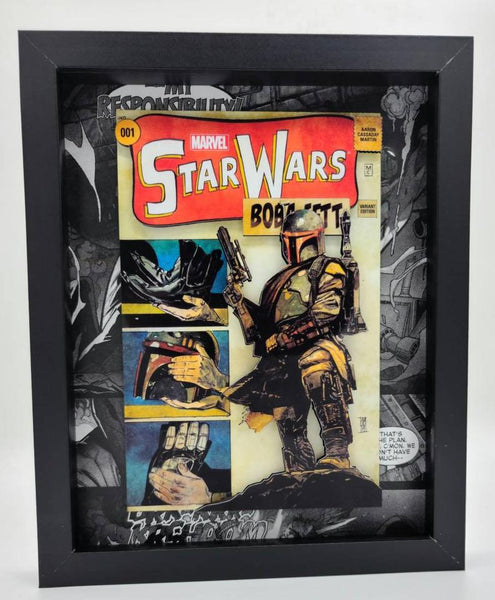Star Wars Boba Fett Shadow Box, 3D Art