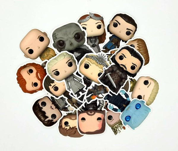 Set of Game of Thrones Funko Character Stickers