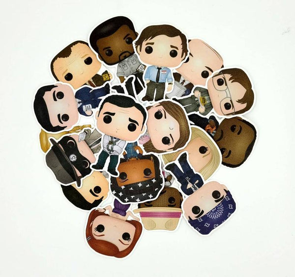 Set of the Office Funko Character Stickers