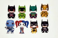Set of DC Comics Funko Character Stickers