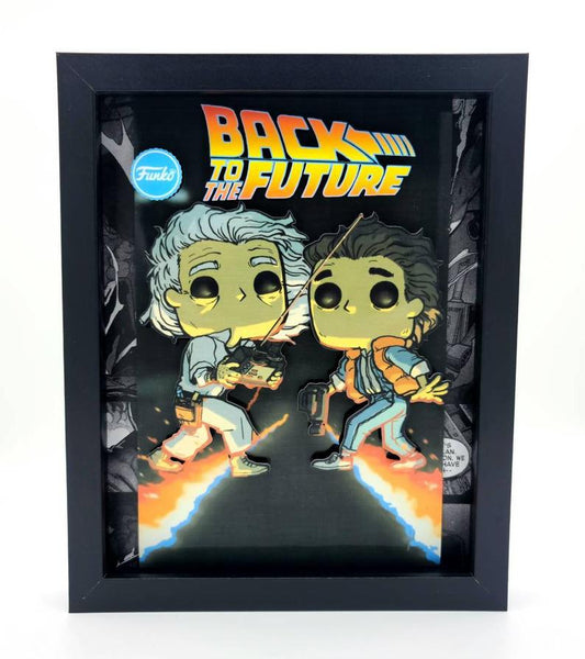 Back to the Future Marty & Doc Brown Funko Shadow Box, 3D Art