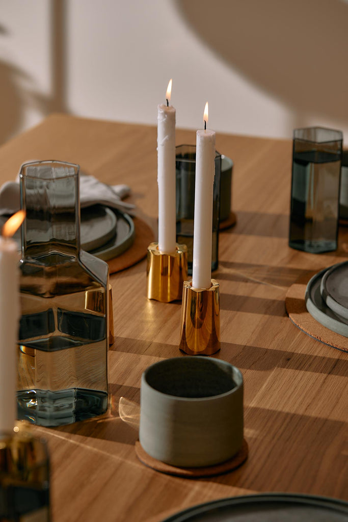 dining table with candlesticks