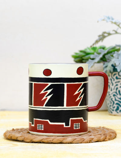Buy best handpainted coffee mug steel tea mug set online mug for office india at soulcraf.com