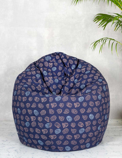 Buy comfortable bean bag online xxxl size India Navy blue bean bag chair at soulcraf.com
